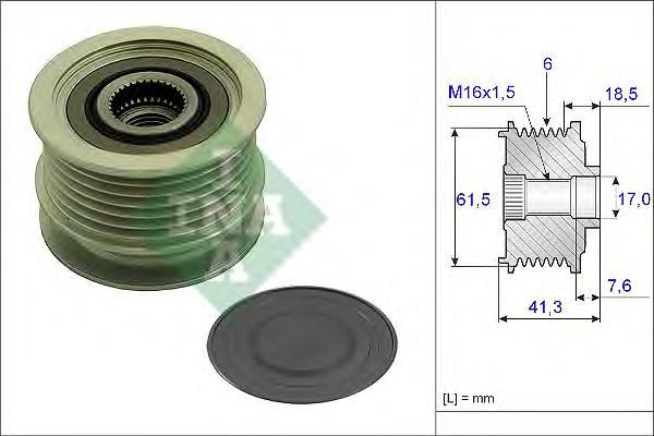 535023410 Шкив генератора Fiat Croma 1.9D Multijet 05 Bosch 120A