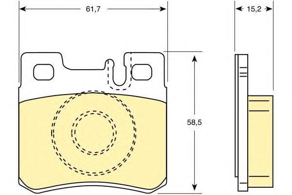 6109872 Колодки тормозные MERCEDES W210/W202/W124/W201/R129/R170/A208 CLK задние