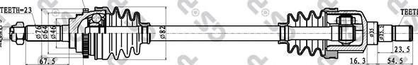 212025 Привод в сборе DAEWOO MATIZ 0.8 98- лев. +ABS