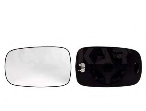 PMG3114G03 Стекло зеркала лев с подогр, асферич  RENAULT: CLIO(2005-09), MEGANE II (2002-08), MEGANE SCENIC II (2003-)