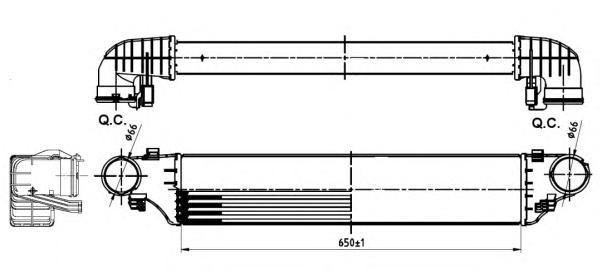 30164A Интеркулер MB C(W203) 01-07