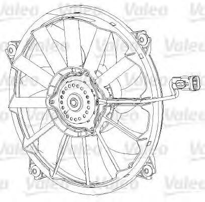 696091 Мотор вентилятора CITROEN C4/PEUGEOT 307