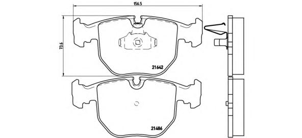 P06021 Колодки тормозные BMW Е38/E39/X5 3.0/4.4 передние