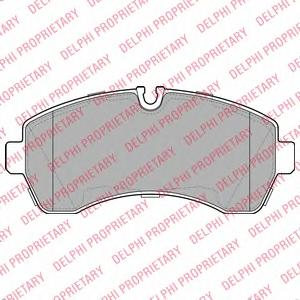 LP1981 Колодки тормозные MERCEDES-BENZ SPRINTER 06/CRAFTER (5т) 06 передние