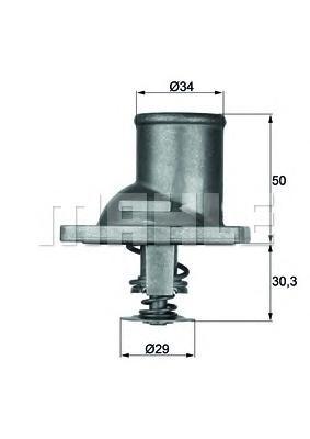 TI192 Термостат OPEL OMEGA 1.8-2.0 86-94 / VECTRA B 1.6-2.0 -02
