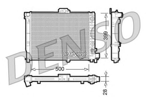 drm25008 Радиатор, охлаждение двигателя