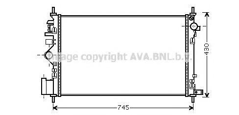 OLA2471 Радиатор OPEL INSIGNIA 2.8T M/T 08-