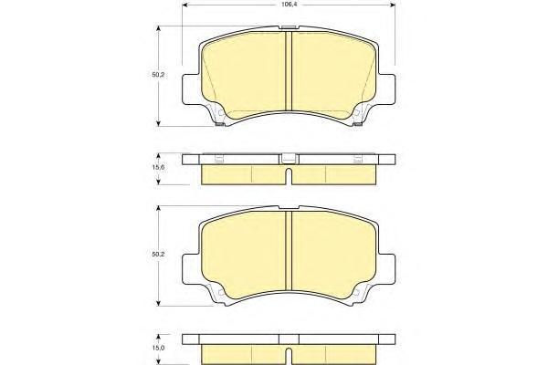 6132219 Колодки тормозные SUZUKI WAGON R+ 1.0/1.2 98-00 передние