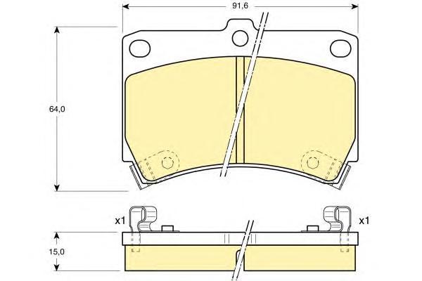 6110249 Колодки тормозные KIA RIO 0002/MAZDA 121 9096/323 90/96 передние