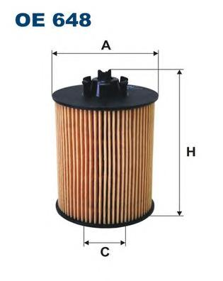 OE648 Фильтр масляный OPEL ASTRA G/H/CORSA C/D 1.0-1.4