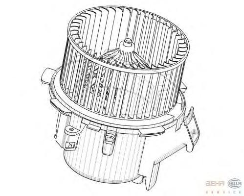 8EW009158211 Мотор отопителя OPEL MOVANO/RENAUL MASTER