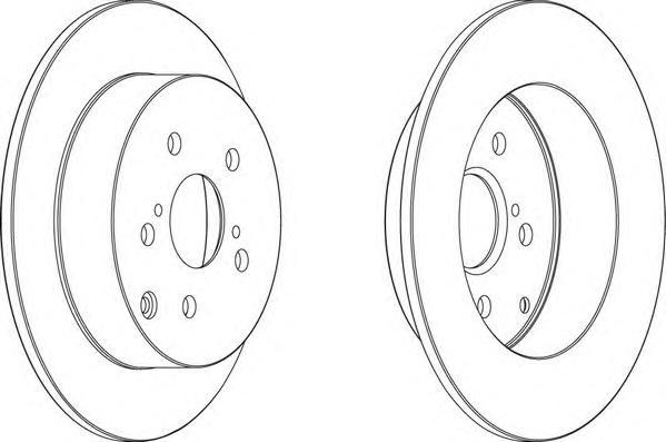 DDF1419 Диск тормозной TOYOTA COROLLA (E12) 1.4-1.8 02- задний