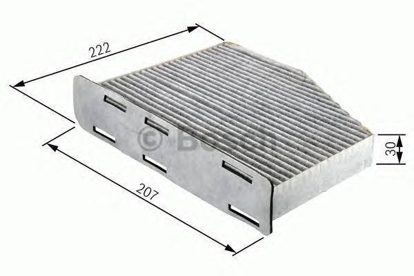 1987432365 Фильтр салона FIAT DOBLO/PUNTO угольный