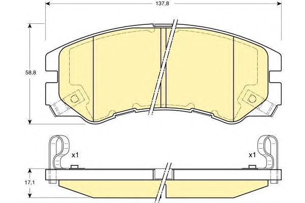 6131629 Колодки тормозные OPEL FRONTERA/MONTEREY 91-98 передние