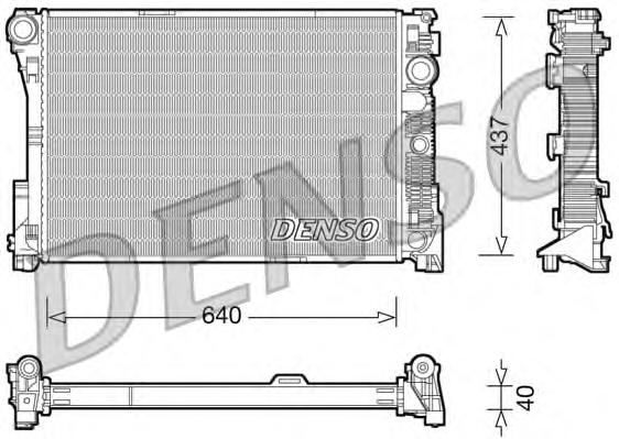 DRM17045 Радиатор MB W204 2.2D/3.0D M/T 07-