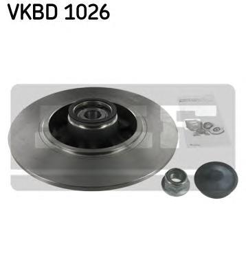 VKBD1026 Диск тормозной задний с подшипником RENAULT Fluence 2010-