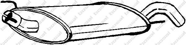 233735 Глушитель VW GOLF 1.6-2.0/1.9TD 91-01