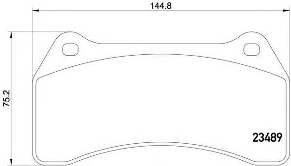 t1588 Колодки тормозные дисковые передн JAGUAR: S-TYPE 02-, XJ 03-