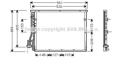 BW5148 Радиатор кондиционера BMW: 3 (E36) 316 i/318 i/318 is/318 tds/325 i/325 td/328 i 90 - 98 , 3 Compact (E36) 316 i/318 tds/