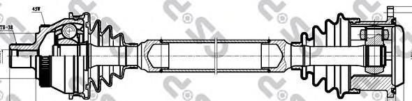 261019 Привод в сборе AUDI A4 I/VW PASSAT V 1.9TDI-2.8 95-08 прав. +ABS