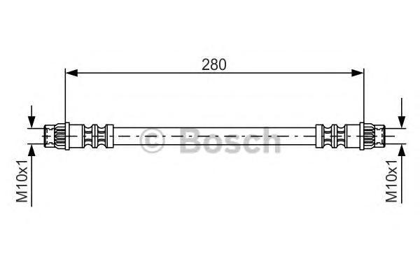 1987476517 Шланг тормозной RENAULT LOGAN задний