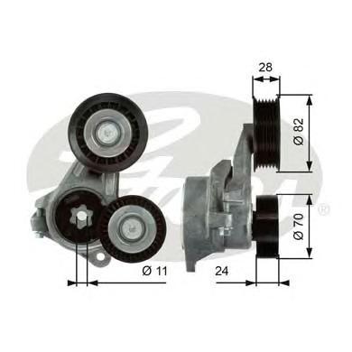 T39024 Ролик приводного ремня Ford Focus II 1.8TDCI 04