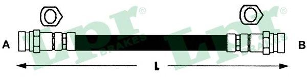 6T48191 Шланг тормозной KIA CARNIVAL 99- задний