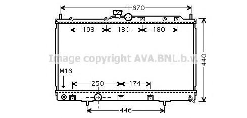 MTA2198 Радиатор MITSUBISHI LANCER 1.6 95-03-
