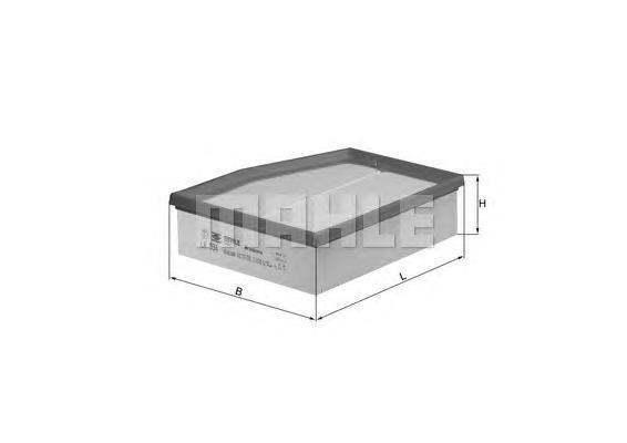 lx934 Фильтр воздушный VW PHAETON 3.2/4.2/5.0D/6.0