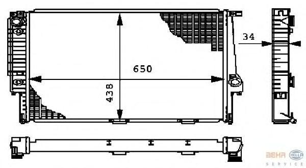 8MK376712374 Радиатор BMW E34 2.5/4.0 88-97