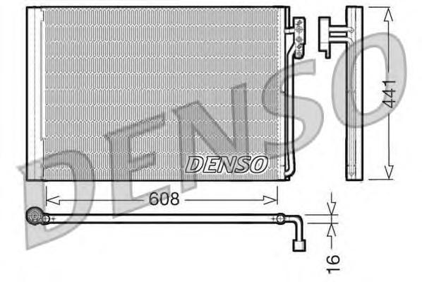 DCN14001 Радиатор кондиционера LAND ROVER: Range Rover 3.0 TD / 4.4i