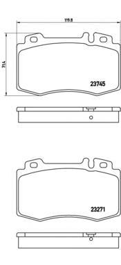 P50053 Колодки тормозные MERCEDES C209/W203/W211/W220/R171/R230 передние
