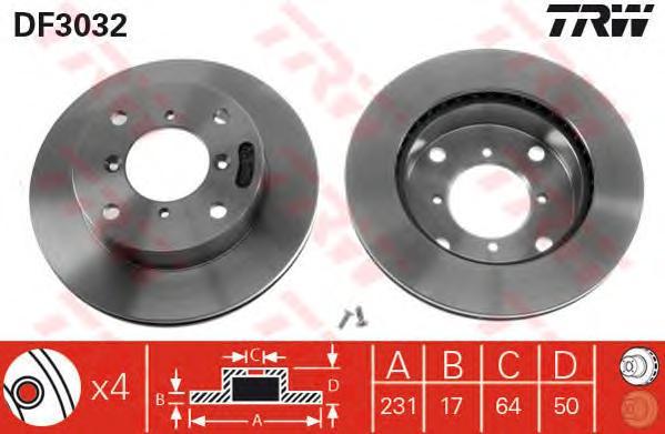 DF3032 Диск тормозной передн SUBARU: JUSTY II 95-03, JUSTY III 03-,  SUZUKI: ALTO III 94-, CAPPUCINO 92-95, SWIFT II 89-01, SWIF