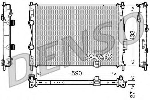 DRM46019 Радиатор NISSAN QASHQAI 2.0 A/T 07-