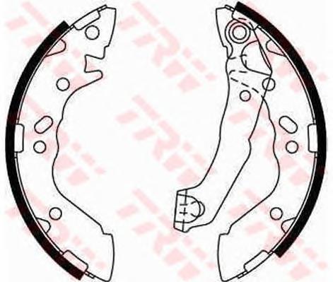 GS8659 Колодки тормозные барабанные задн HYUNDAI: ATOS 98-, ATOS PRIME 99-