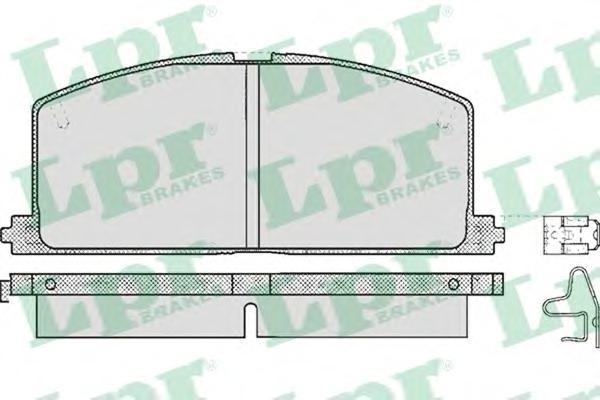 05P268 Колодки тормозные TOYOTA CAMRY/CARINA/COROLLA 83-92 передние