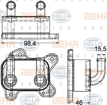 8MO376780601 Радиатор масляный OPEL ASTRA G/CORSA C 1.7TD 00-09
