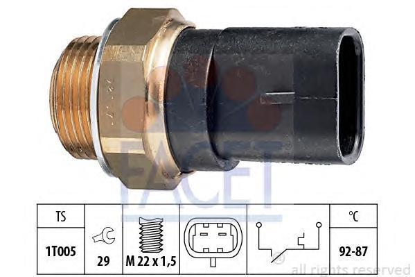 75031 Датчик включения вентилятора ALFA ROMEO: 145 (930) 1.4 i.e./1.6 i.e./1.7 i.e. 16V 94-01, 146 (930) 1.4 i.e./1.6 i.e./1.7 i