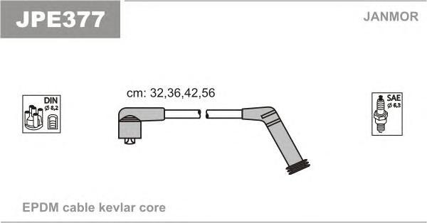 JPE377 Комплект проводов зажигания HYUNDAI: ACCENT 00-, EXCEL 00-