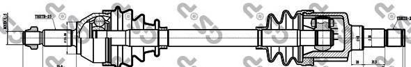 218101 Привод в сборе FORD FOCUS I 1.8TDI-2.0 98-04 лев.