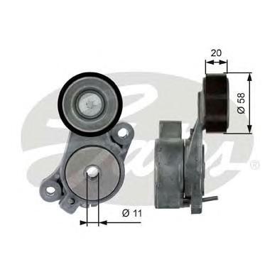 T39040 Натяжитель ремня приводного VW GOLF 5/JETTA/TIGUAN 1.4 06-