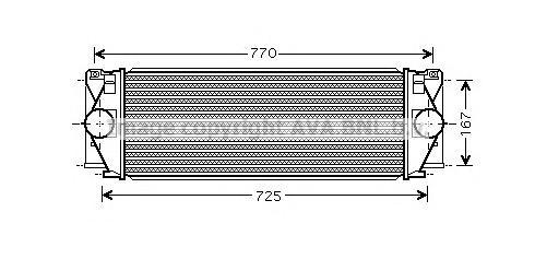 MS4396 Интеркулер MB SPRINTER 2.2D 06-
