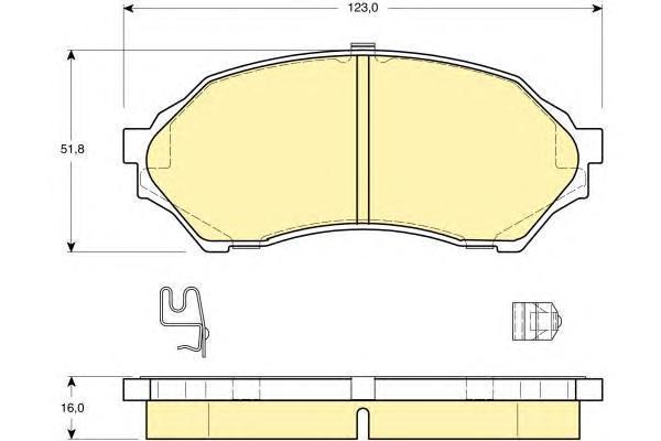 6131939 Колодки тормозные MAZDA 323 1.4-1.5 98-04 передние