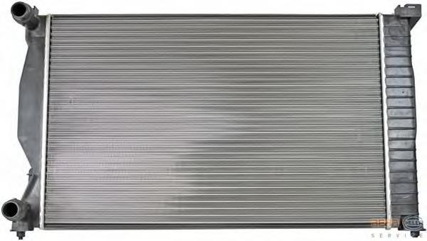 8MK376766261 Радиатор системы охлаждения AUDI: A4 (8E2, B6) 1.6/1.8 T/1.8 T quattro/1.9 TDI/1.9 TDI quattro/2.0/2.0 FSI 00 - 04