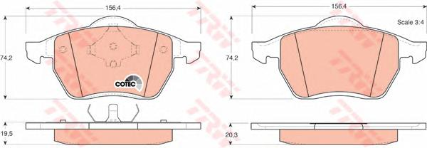 GDB1204 Колодки тормозные VOLKSWAGEN SHARAN 2.0/2.8/1.9D /FORD GALAXY 9506 передние