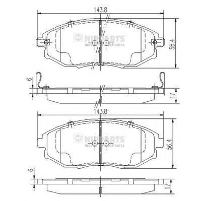 J3600912 Колодки тормозные CHEVROLET EPICA 07- передние