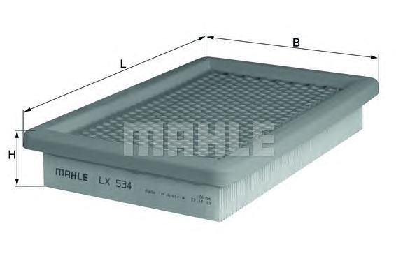 LX534 Фильтр воздушный MAZDA 323 1.3-2.0 94-
