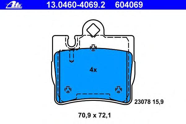 13046040692 Колодки тормозные дисковые задн, MERCEDES-BENZ: S-CLASU SU280/S 320/S 320 CDI/S 400 CDI/S 430/S 500/S 55 AMG 98-05,