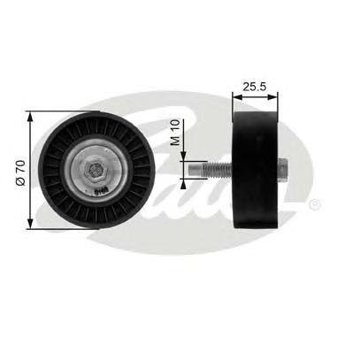 T36199 Ролик ремня приводного FORD FOCUS 98-06/01 1.8/2.0 обводной