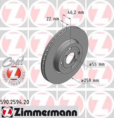 590259420 Тормозной диск